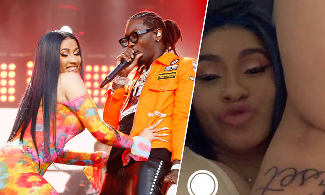 Cardi B flaunted her new tattoo on FaceTime with her husband, Offset.