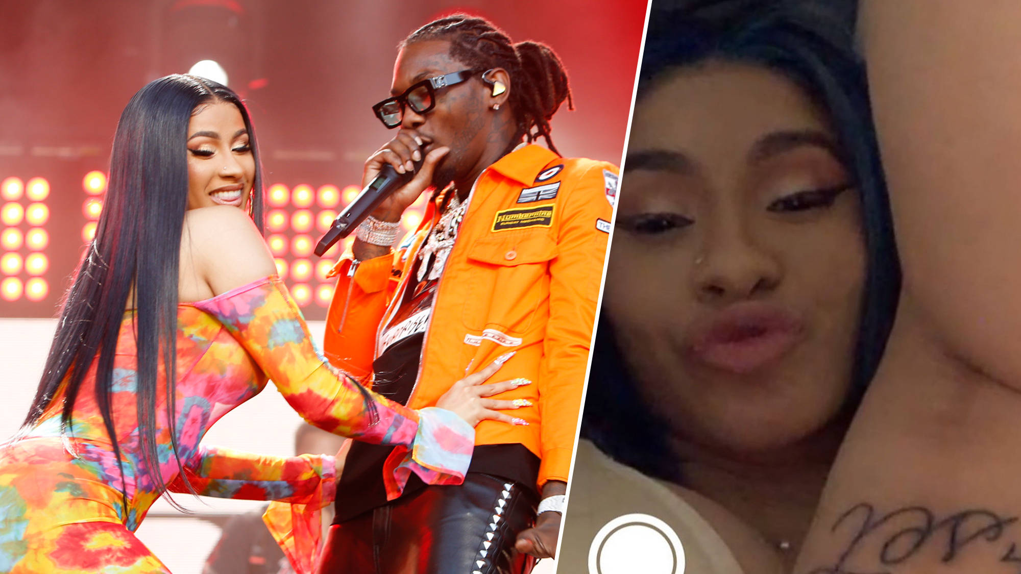 Cardi B Reveals Huge Offset Tattoo Of Husband S Name On Her Leg