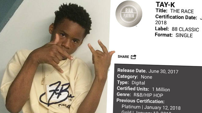 "Tay-K&squot;s video and lyrics to his hit ""The Race"" will reportedly be used in court"