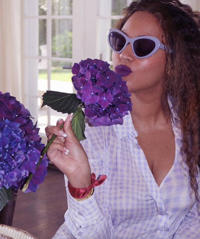 The 'Brown Skin Girl' singer's fans are looking into the hidden meanings of the colour purple.