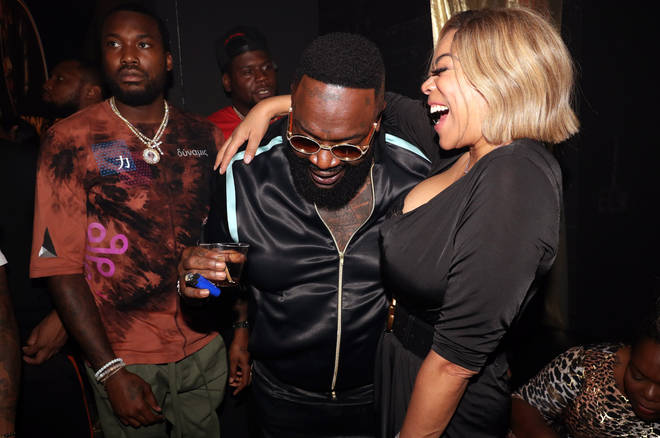 "Wendy with Rick Ross at his ""Port Of Miami 2"" Album Release Celebration in NYC."