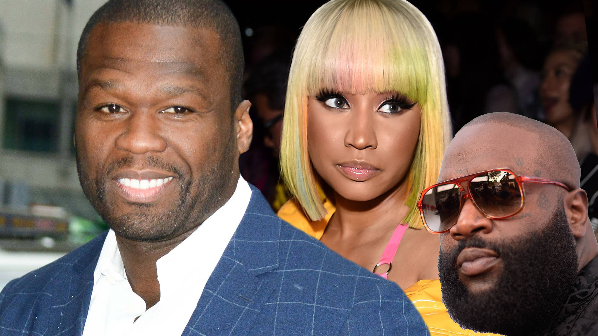 50 Cent Trolls Rick Ross After Nicki Minaj Slammed Him For His 'Apple Of My Eye' Diss