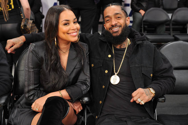 Lauren London shared a touching tribute to her late partner Nipsey Hussle, who was fatally shot outside his Marathon clothing store on 31st March, 2019. (The couple pictured here in November 2018.)
