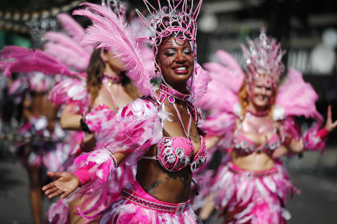 The main parade at Notting Hill Carnival is a colourful array of dancers, music and good vibes.