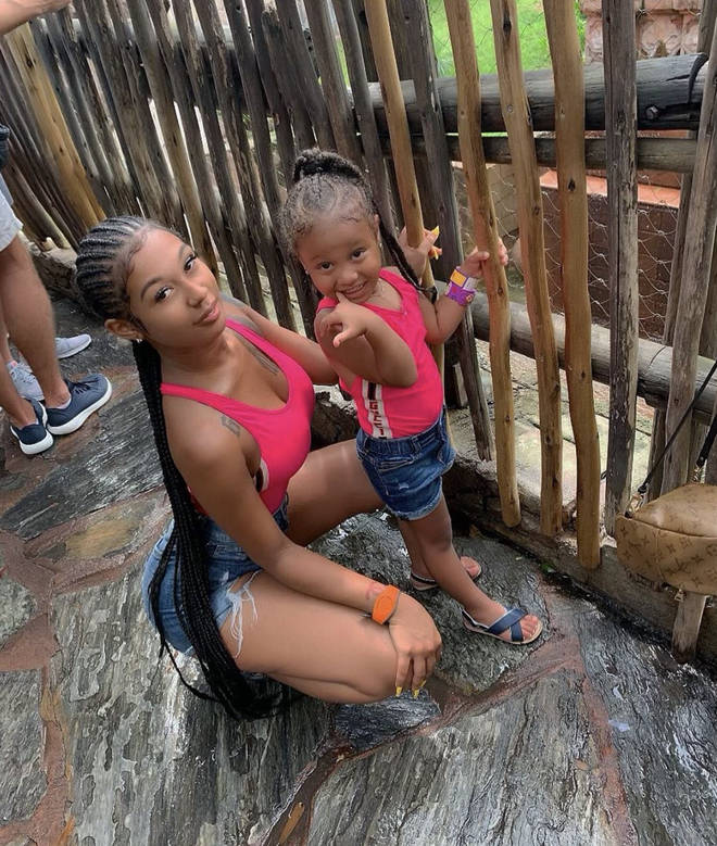 Jade celebrated her daughter Jae'la's fourth birthday in July.