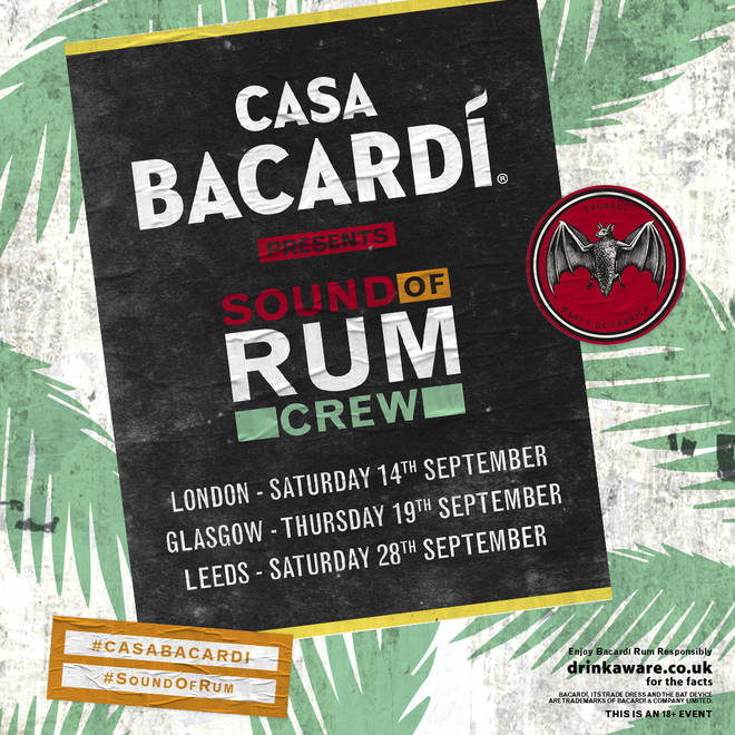 CASA BACARDÍ's new 'Sound Of Rum Crew' are travelling around the UK this September.