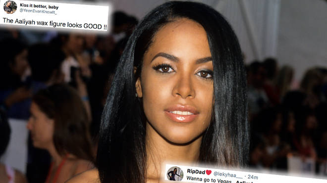Aaliyah's wax figure is finally open to the public to view at Madame Tussaud's