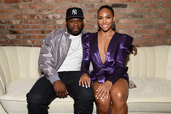 50 Cent was accompanied by stunning model Jamira Haines at the 'Power' Season 6 red carpet premiere.
