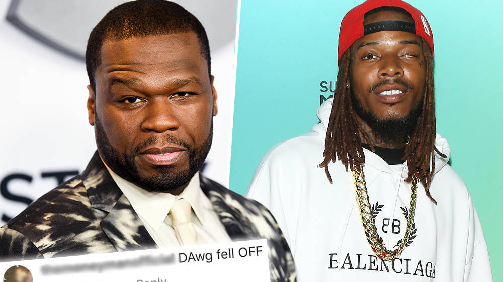 """50 Cent Claps Back At Fan Who Claims Fetty Wap """"Fell Off"""" In His Music Career"""