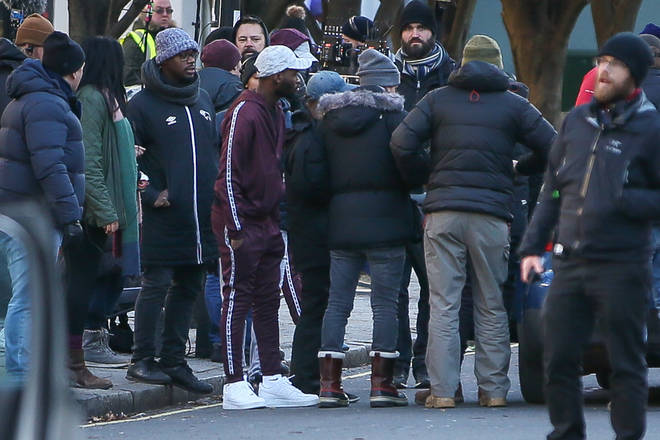 The Top Boy cast were filming an intense police chase scene in London earlier this year