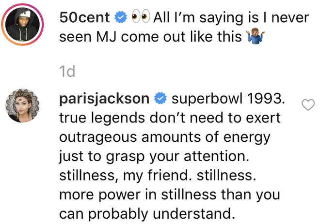 Paris Jackson defends her father Michael Jackson after 50 Cent's Chris Brown comparison