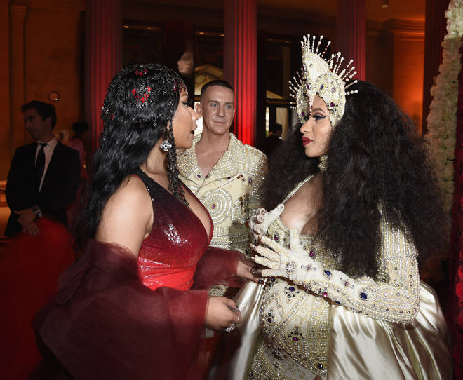 "Nicki and Cardi&squot;s beef was ""curated"" claimed Chance. (The pair pictured here at the Met Gala 2018.)"