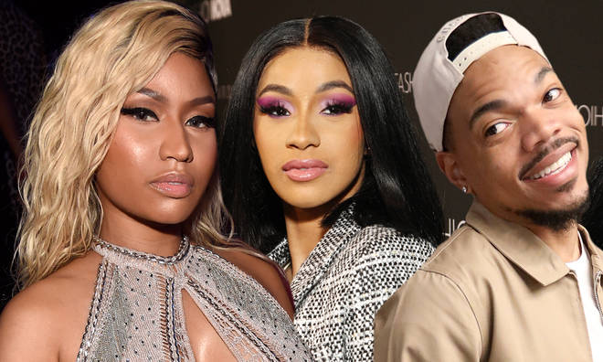 Chance the Rapper suggested the beef between Nicki Minaj and Cardi B was manufactured.