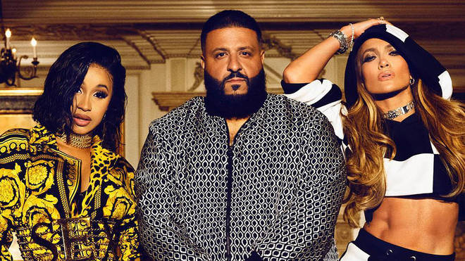 Cardi B, DJ Khaled and Jennifer Lopez.