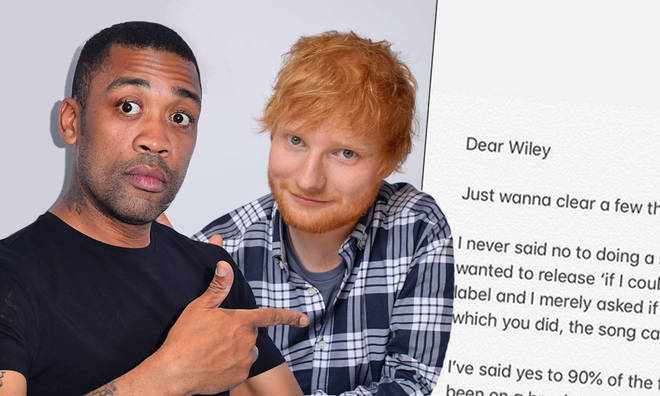 Ed Sheeran responds to Wiley's 'culture vulture' comments