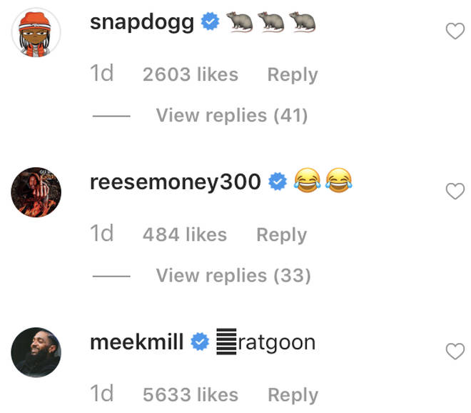 Meek Mill calls out Tekashi 6ix9ine underneath Snoop Dogg's post