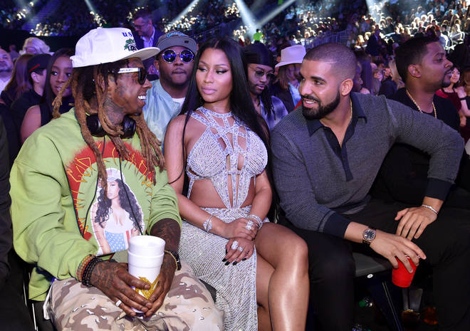 Young Money labelmates Drake and Nicki appear to have distanced themselves in recent years. (Pictured here with Lil Wayne in May 2017.)