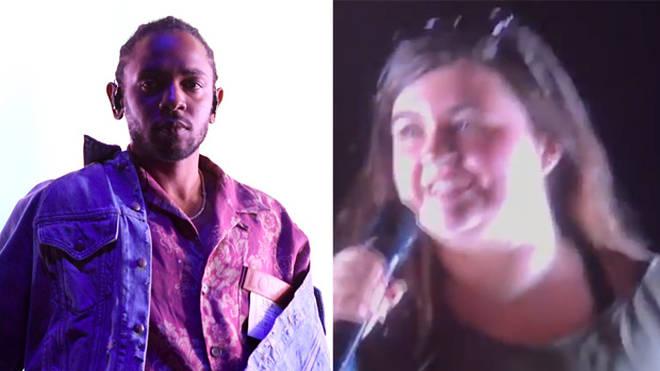 Kendrick Lamar and fan