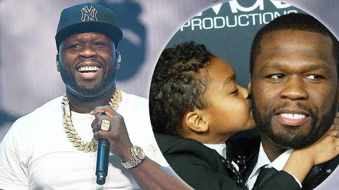 50 Cent buys his son Sire a iced-out chain for his 7th birthday