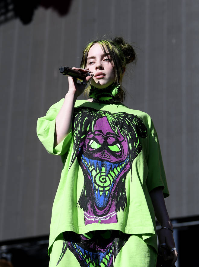 Billie Eilish gave her friend a warning for recording herself at the wheel.