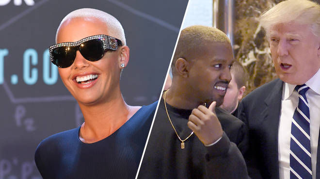 Amber Rose, Kanye West, Donald Trump.
