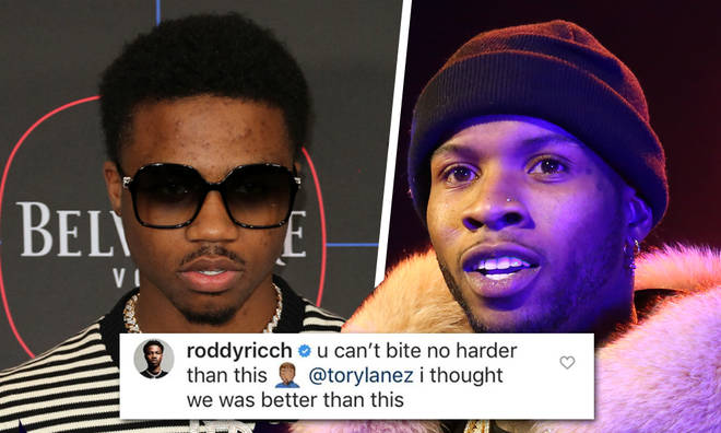 Tory Lanez Addresses Roddy Ricch After 'Biting' Claims
