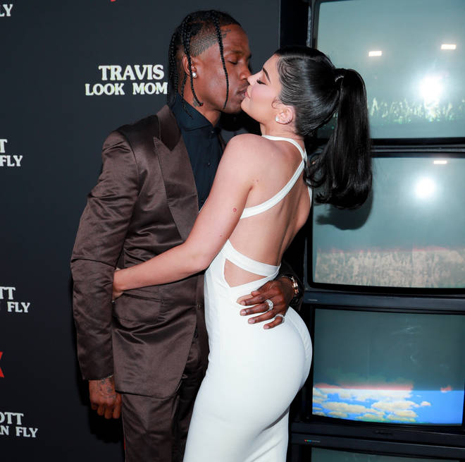 Travis and Kylie have taken a break from their relationship following two years of dating. (Pictured here in August 2019.)