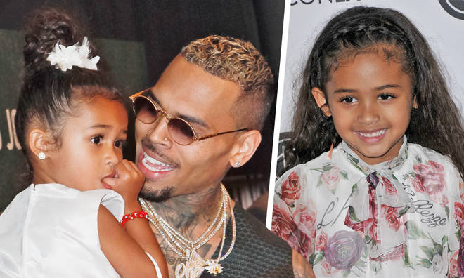 Chrois Brown brings daughter Royalty out on stage