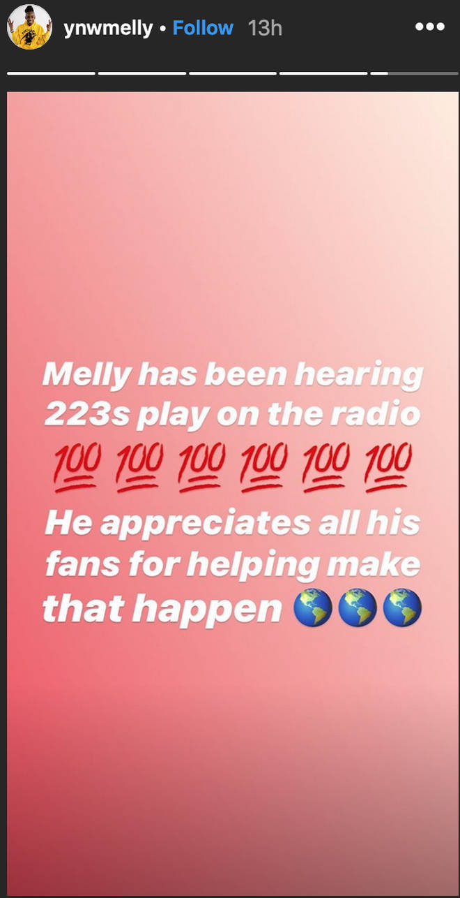 YNW Melly thanks fans from jail as '223's' goes Gold