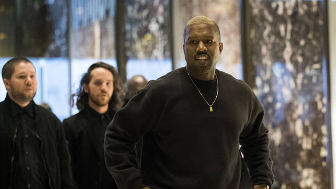 Kanye West at the Trump Towers meeting Donald Trump