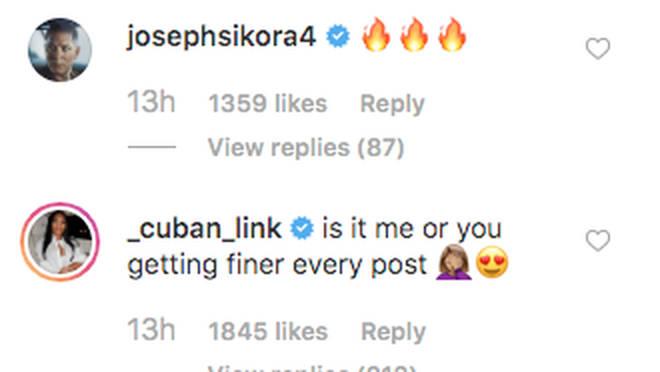 50 Cent's rumoured girlfriend Jamira Haines comments on his Instagram