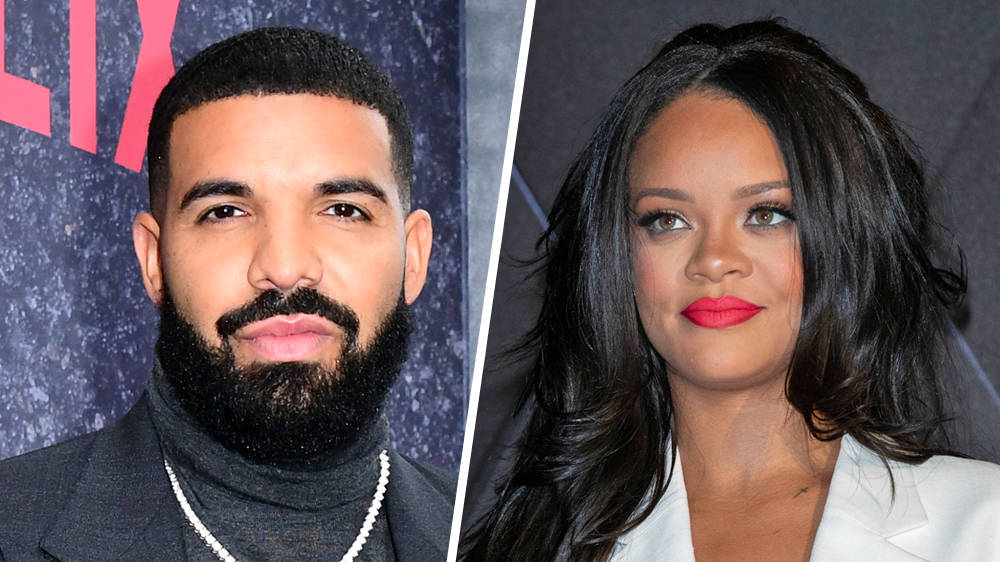 """Rihanna Accidentally Quotes Drake Saying Baby News Is """"God's Plan"""""""