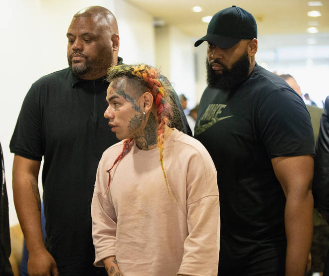 Tekashi 6ix9ine reportedly mentioned his former Nine Trey Blood associates during his trial. (Pictured here in August 2019.)