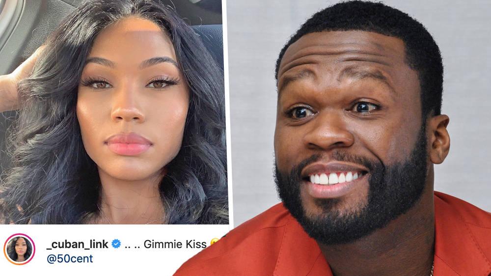 50 Cent Sends Kisses To Rumoured Girlfriend In Flirty Instagram Exchange