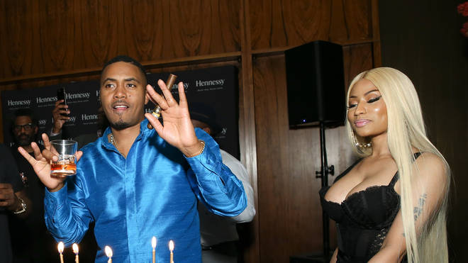 Nicki Minaj and Nas at Nas' 44th birthday