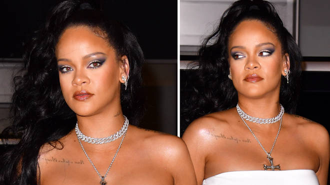 Rihanna swiftly rejects fan who tries to wrap his arm around her