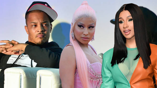 T.I addresses fans who judge him for supporting both Nicki Minaj & Cardi B