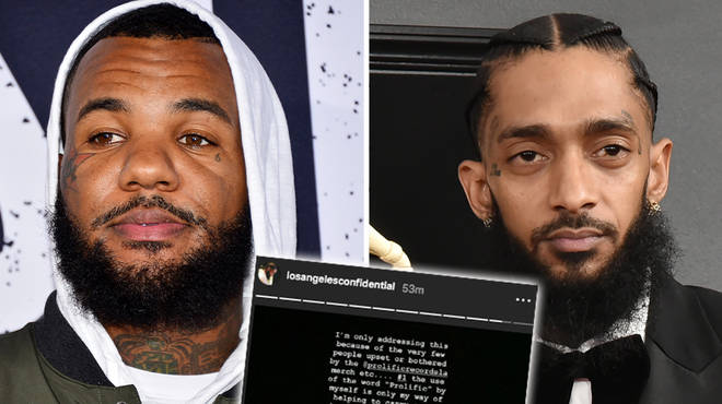 The Game has responded to fans accusing him of exploiting Nipsey Hussle's name