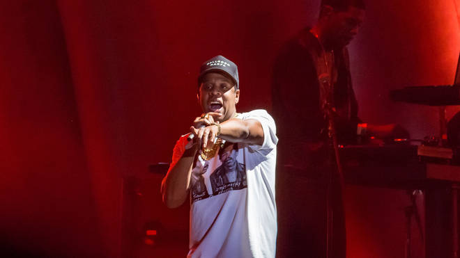 Jay Z on stage at the 2017 Austin City Limits Music Festival