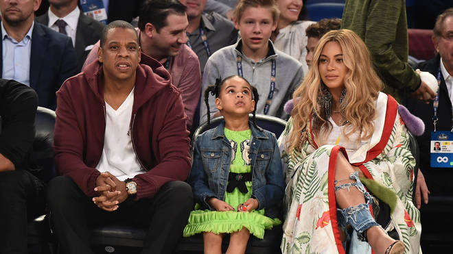 Beyonce, Jay Z and Blue Ivy at the NBA All-Star game 2017