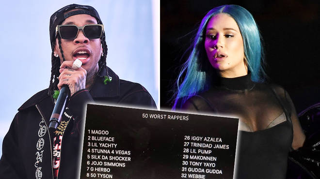 The 'Top 50 Worst Rappers' list has been challenged by Hip-Hop fans