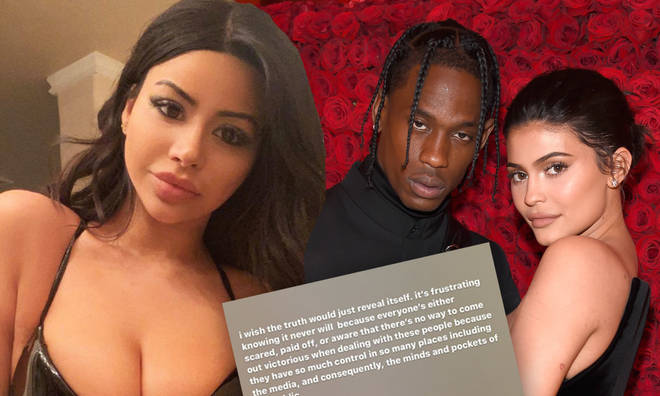 Scott's rumoured love interest, who goes by @yungsweetro on social media, has spoken out.