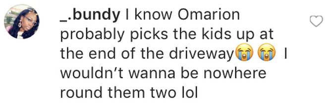 Fan comments on Lil Fizz grabbing Apryls behind