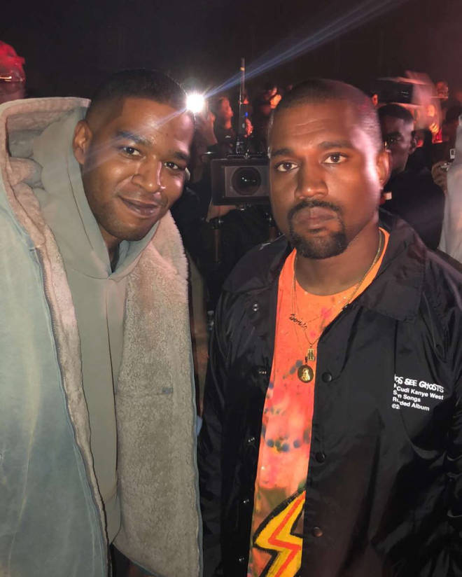 Kid Cudi & Kanye West at the 'Kids See Ghosts' listening party in Santa Clarita.