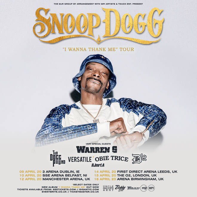 Snoop Dogg is coming to the UK!