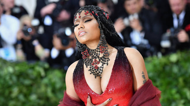 Nicki Minaj arrives for the 2018 Met Gala.