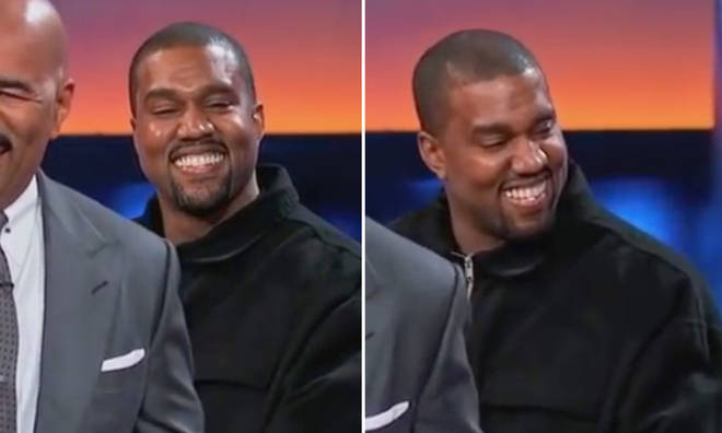 Kanye West appearing on Celebrity Family Feud.