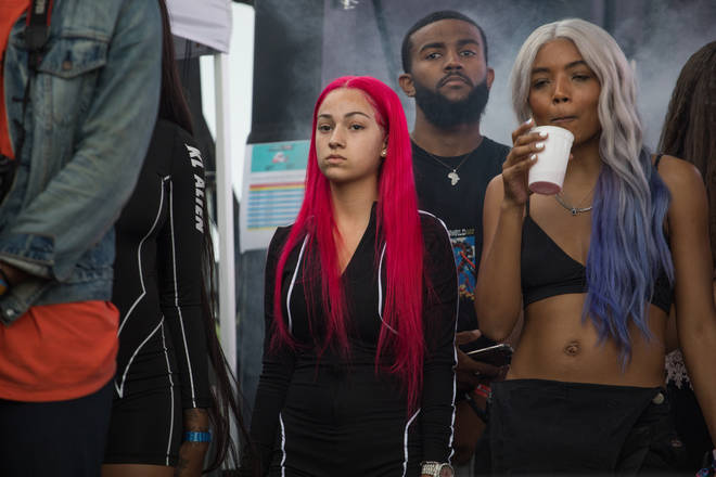 Rapper Danielle Bregoli, aka Bhad Bhabie, was seen engaging in a physical altercation with fellow rapper Woah Vicky in an Atlanta recording studio.