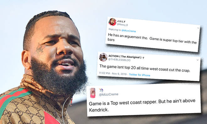 The Game reveals his Top 5 West Coast Rappers list
