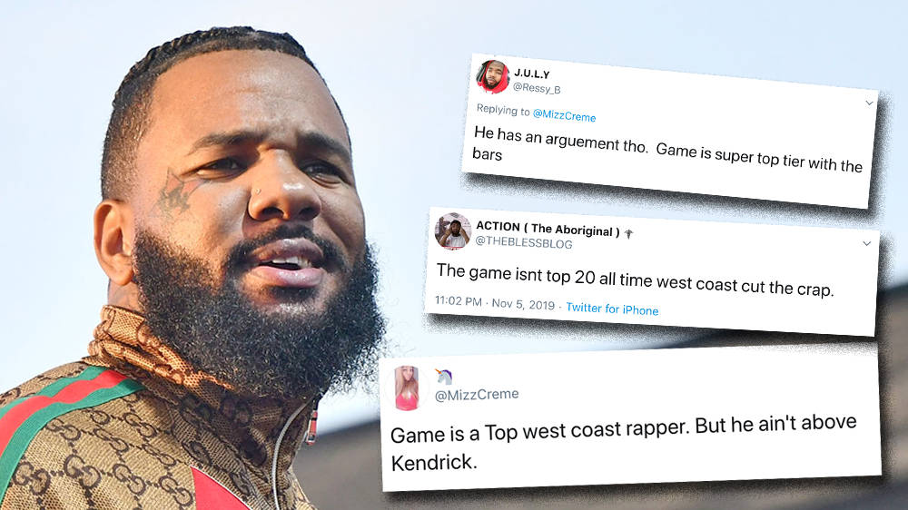 """The Game Lists His Top 5 West Coast Rappers & Claims He's """"Most Underrated"""""""